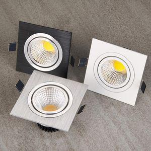 Quadratische helle vertiefte weiße Splitter schwarze LED dimmbares Downlight PFEILER 7W 9W 12W LED Punktlichtdekoration Deckenlampe