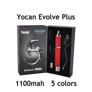 Оригинальные наборы для сигарет Yocan Evolve Plus e Vape Масляные картриджи 1100 мАч Стартовые наборы Ручки Vape Модификаторы Wax Vaporizer Quatz Dual Coil Ecig