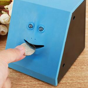 Face Money Eating Box Cute Facebank Piggy Bank Coins Box Money Coin Saving Bank for Children Toys Gift Home Decoration