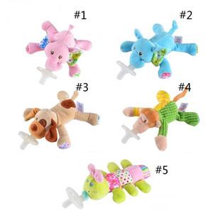 mignon nouveau Sucettes créatif silicone bébé avec des animaux en peluche Jouets suces bébé cartoon Baby Safe Filles Nipples