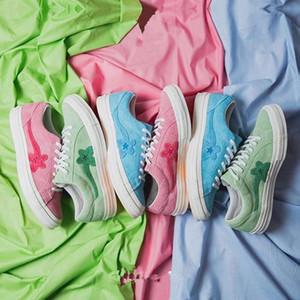 2018 타일러 The Creator x Con 원 스타 x 골프 Le Fleur TTC 솔라 옐로우 스니커즈 트레이너 신발 캔버스 신발
