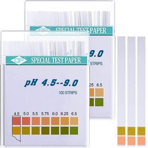 Tiras de prueba de pH universales Tiras de papel de prueba de pH alcalinas profesionales para la salina en orina Medida de pH de 4.5-9.0