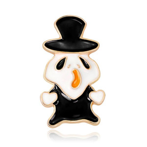 2020 Vestido Broches Vintage Collar Santo Banquete decoração personalizada broche Série dos desenhos animados de Halloween Jóias Acessórios Mulheres presente