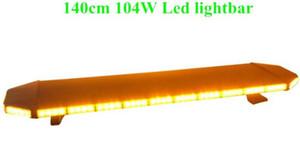 Высокая интенсивность DC12V 140cm 104W LED аварийный lightbar, грузовик сигнальная лампа бар, стробоскоп для полиции скорой помощи пожарных автомобилей, водонепроницаемый