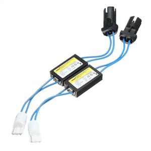 2шт LED предупреждение Canceller декодер T10.W5W OCB без ошибок резистор нагрузки Canbus Canceller алюминиевая крышка для светодиодных ламп 12 В