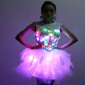 LZ09 Bühne Leuchtbekleidung Nachtclubs Bar Sexy Frauen trägt led kostüme beleuchtete kleider ballroom dance sänger tuch rock led leistung