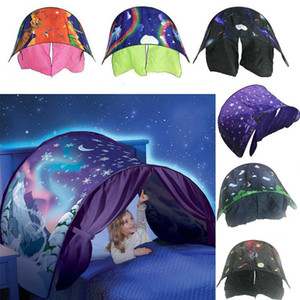 Kid Baby Dream Палатка Fantasy Складной Единорог Луна Белые Облака Космическое Пространство Снег Палатка Необычные Спальные Опоры Без Ночного Света 9 цветов