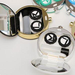 Novel Bottiglie di profumo Lenti a contatto Custodia per occhiali Accessori Lenti a contatto Occhiali Custodie 2 colori