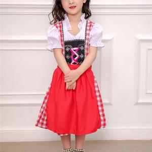 Enfants Stage Show Costume Mignon Bière Fille Halloween Costume Enfants Cosplay Jeu Uniforme Rouge Maid Wear