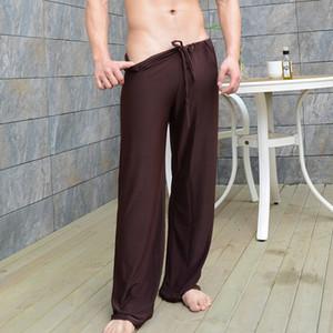 Sommeil Bas Hommes Sexy Accueil Pantalons desserrées Lounge Hommes Milk Silk Fashion Bracelet Homme Pyjama Mode Hommes sexy de nuit Drop Shipping