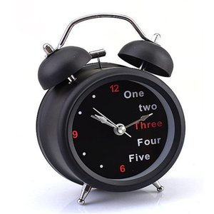 D-5 High Cost-Effective New Classic Number/English Retro Double Bell Desk Table Alarm Clock