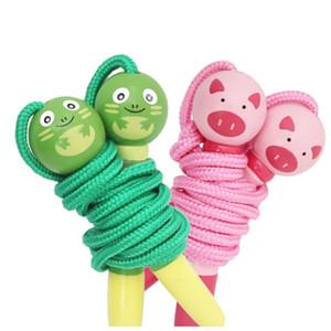 Multi-Color Cartoon Child Corda da salto in legno Manico animale Alunni Gioco dell'asilo Salto della corda Salto per i bambini