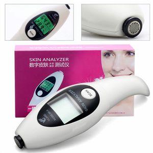 الدقة محلل الجلد الرقمية شاشة lcd الوجه الجسم الجلد الرطوبة النفط تستر متر تحليل الوجه العناية أداة مراقب الصحة