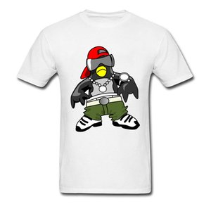 Geek Top T-Shirts 2018 Newest Designs Cartoon Penguin Patterns T Shirt Custom Cool Tshirt For Student Natural Cotton Clothing