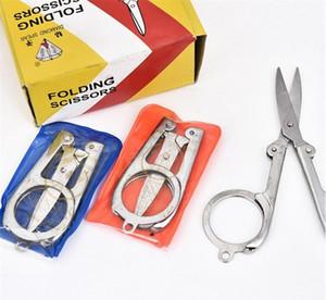Новый Алмазный копье горячей продажи дома портативный складной ножницы мини складной складной складной ножницы путешествия ножницы цвет серебро KKA1255