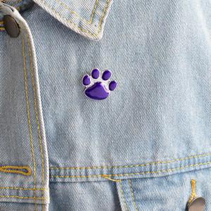 Miss Zoe Фиолетового Собака лапа контактного Симпатичная мультфильм брошь Cat Kitten Paw Брошь Pins Puppy коготь знак подарки ювелирные изделия для владельцев домашних животных Dropshipping
