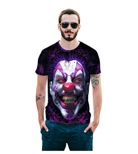 Wholesale Free Shipping new style 3d transfer print t shirt funny comics character joker summer outfit tees top tee shirt clothes