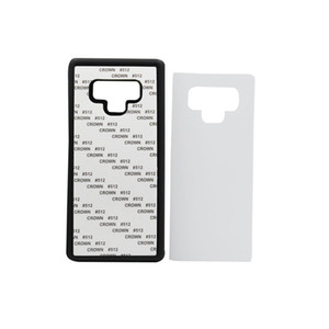10 PCS DIY 2D Sublimation Silicon Case for Samsung s9 Blank Printed Heat Transfer Cover for Samsung note 9 With Aluminum Plate
