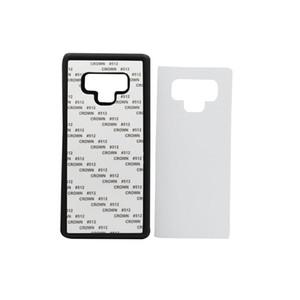 10 PCS DIY 2D Sublimations-Silikon-Kasten für Samsung s9 Leere gedruckte Wärmeübertragungs-Abdeckung für Samsung-Anmerkung 9 mit Aluminiumplatte