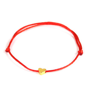 2019 Lucky Golden Cross Heart Bracelet For Women Children Red String Adjustable Handmade Bracelet DIY Jewelry