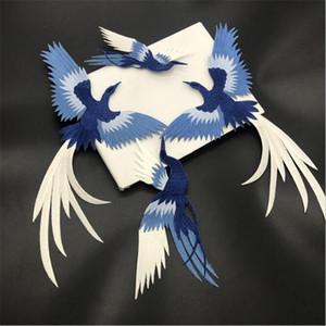 птица железо на адгезивер Феникс птица комбинации вышивка кружева ткань паста ткань аппликация патч DIY (1set=4 шт.)