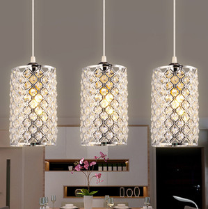 Modern basit zarif silindir şekli kristal kolye işıklar asma lambalar cilası yemek odası yatak odası bar ev dekor için cristal