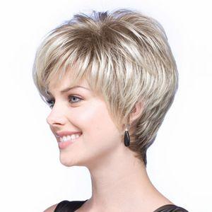 Fashion Short Lady's Wig Synthetic Celebrity Haircut Parrucche sintetiche per donne dall'aspetto naturale