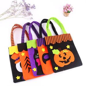 Sacchetti variopinti del regalo del sacchetto della caramella di Halloween Sacchetti della zucca di trucco o ossequio Sacchi regalo di Hallowmas per i rifornimenti del partito di evento dei bambini Decor