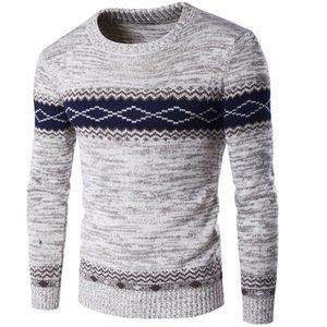 SHABIQI 스웨터 남자 2018 새로운 도착 캐주얼 풀 오버 남자 봄 가을 라운드 목 품질 니트 브랜드 남성 스웨터 S-2XL