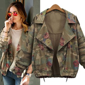 Women's Clothing Autumn and winter new short camouflage long-sleeved coat windbreaker Europe and America large size women's loose coat tide