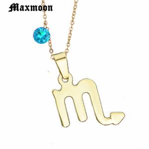 Maxmoon 12 Takımyıldızları Paslanmaz Çelik 3 Renkler Burç Akrep Kolye Kolye Isim Kolye Doğum Günü Hediye Bijoux