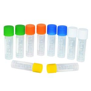 100 ADET 1.8 ml Bilim Lab Mikro Santrifüj Tüpleri Örnek Şişeler Toplama Tüpleri Şeffaf Plastik Test Tüpleri