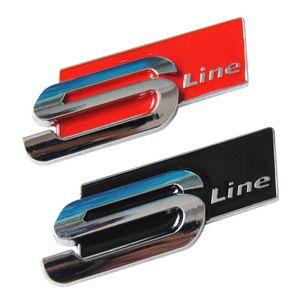 3D-Metall-Auto-Aufkleber Sline S LINE Seite Fender Rear Trunk Badge Emblem Aufkleber für Audi A1 A3 A4 A6 S3 Q3 Q5 S5 S4 S6 S8 TT RS4 Q7