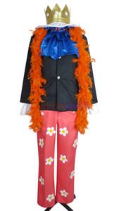 One Piece Cosplay Two Years Later Brook Burukku Costume Orange Scarf H008