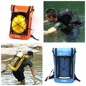 Rafting 25L Wasserdichte Rucksack Dry Bag Große Kapazität Zip Daypack Outdoor-reisen Camping Treiben Kajak Tasche DDA727 Wickeltaschen