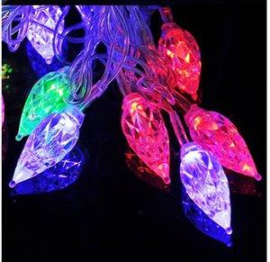 4M 20 luci AC110V / 220V Led goccia d'acqua Diamond Night Lights Lamp Strings Halloween Christmas Decoration Festival Light String