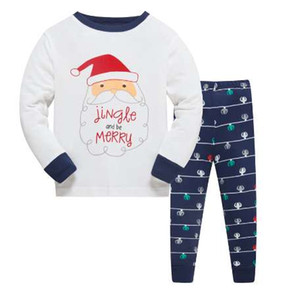 LUCKYGOOBO Kids Pajama Set Boys Bear pattern Sleepwear Girls 100% cotton Pajamas Set Children Cartoon pyjama Baby Clothing Set