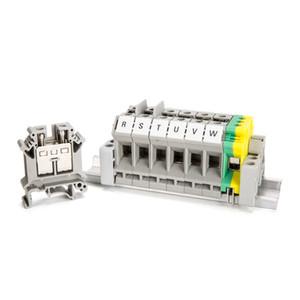 Morsetto passante 10PCS Tipo combinato 14-4 AWG 76 A 800 V UK-16N Connettore grigio grigio