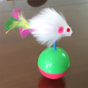 Copo do rato Brinquedo Do Gato Esfera De Borracha Macia Pena Pet Brinquedos Resistente Ao Desgaste Suprimentos para Animais de Mistura de Cor de Alta Qualidade 1 5 wc ff