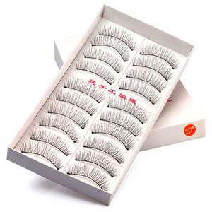 10 pares de pestañas falsas hechas a mano maquillaje de ojos 216 217 pestañas naturales extensión de pestañas falsas pestañas suaves pestañas Nattural larga
