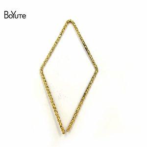 BoYuTe 100 Pcs En Métal Laiton 1 * 21 * 42mm Fil Géométrique Accessoires Pièces Handmade Diy Bijoux Constatations Composants