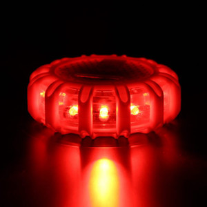 Mini 12 * LED Emergenza di sicurezza Flare Red Road Flare Magnet Lampeggiante Warning Night Lights Roadside Disc Beacon