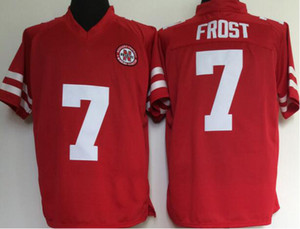 Homens Nebraska Cornhuskers Huskers # 7 Scott Frost Cor Vermelha Número Nome Costurado College Football Jerseys Pode Misturar Ordem Frete Grátis