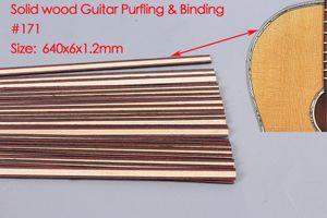 25pcs Guitar Strip Wood Purfling Binding Guitar Body Inlay Parts 640x6x1.2mm