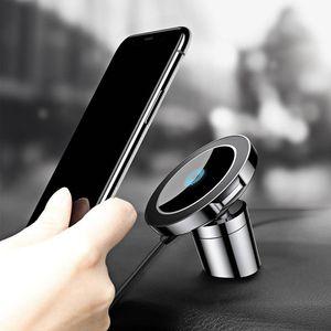 Магнитный автомобильный держатель Qi беспроводное зарядное устройство быстрая зарядка для iPhone X 8 Samsung Huawei Xiaomi и т. д. смартфоны
