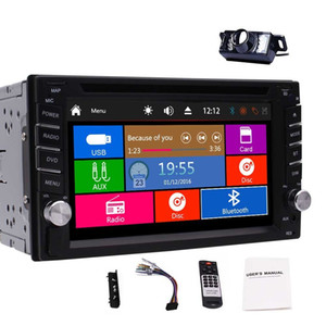 Double Din Car Autoradio 6.2'' Car DVD CD Player 5-Points Screen MP3 MP4 USB FM RDS Radio Bluetooth SWC AUX 1080P Video