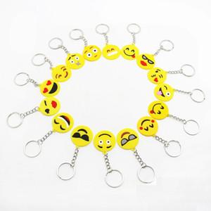 QQ emoji Emoji Emoticon Chaveiro Emoji Smiley Emoção Amarelo QQ Expression Stuffed Pelúcia boneca de brinquedo para o saco Móvel pingente