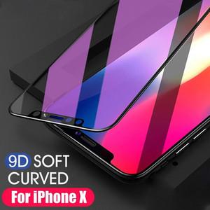 9D 5D Ausgeglichenes Glas Full Coverage Telefon Explosionsgeschützte LCD-Schirm-Schutz-Film für iPhone XS Max MR X Anti-Blue Ray