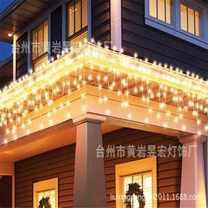 Eco-Friendly Venda de Natal 3m X 3m levou cortina da corda Luzes Ue 220V Xmas Garland LED para festa de casamento Ano Novo Holiday Decor