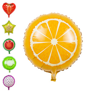 New Cute Carambola / Watermelon / Strawberry Fruit Balloon Pitaya / Orange / Kiwi Fruit Birthday Party Decoration Palloncino per giocattoli per bambini